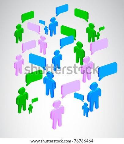 Many people talking