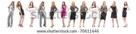 many peoples team isolated over white background