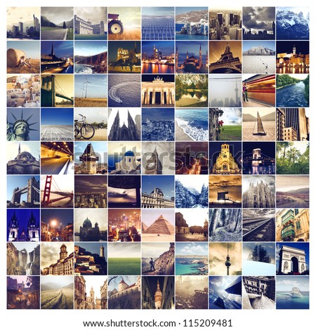 Many photos of many places around the world