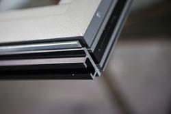 Many profiles./Aluminum aluminum color, industrial processes