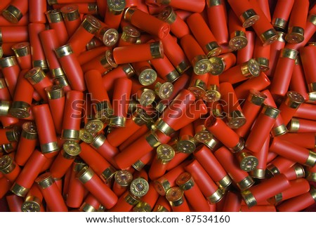 many randomly scattered cartridges