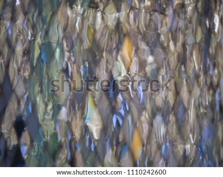 Many rhombus shape of colorful bokeh can be used as background for celebration concept or textured  abstract  #1110242600