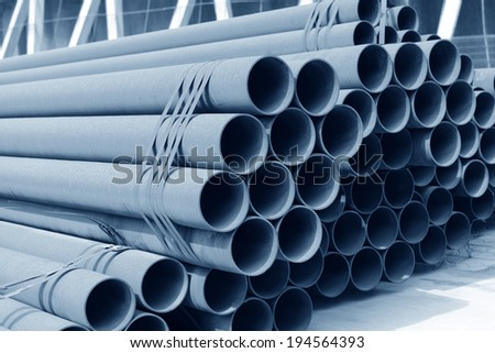 Many rusty iron pipe pile up together