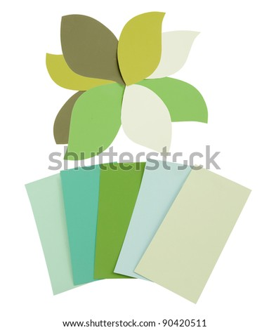 many shade of colors on a white background