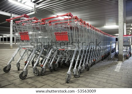 many shopping carts