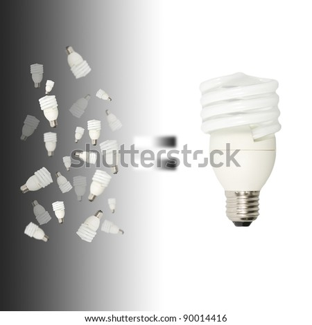 many small light bulbs equal big one