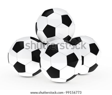 many soccer footballs be each other balls