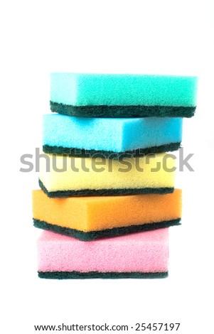 Many sponges isolated