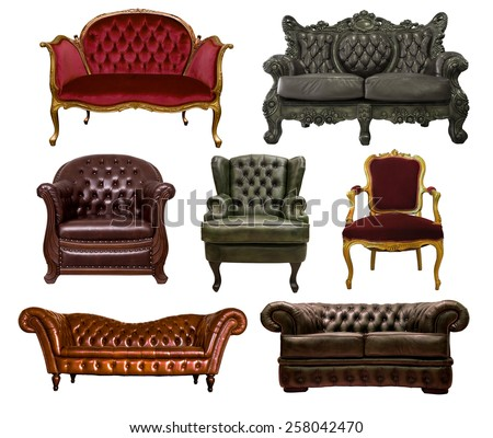 many style of vintage sofas...