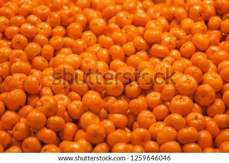 Many tangerines, tangerine pattern #1259646046