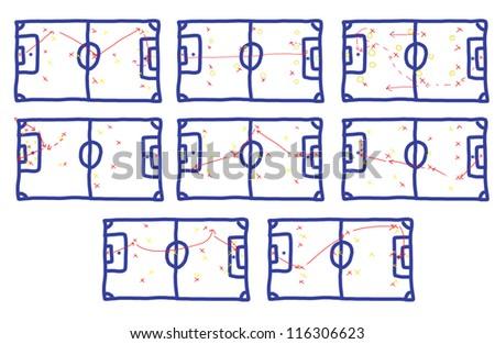 Many teamwork Football Game Plan Strategy