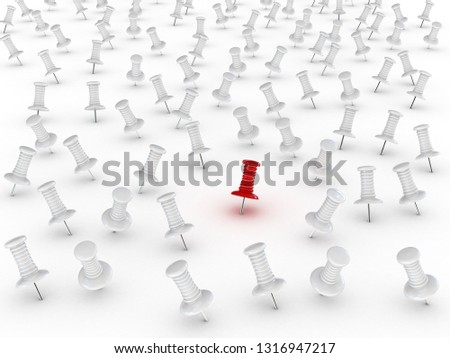 Many thumbsticks on white isolated background. 3D rendering illustration
