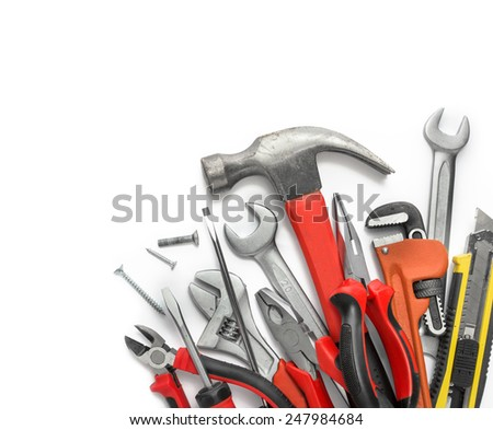 Many Tools isolated over white background with copy space #247984684
