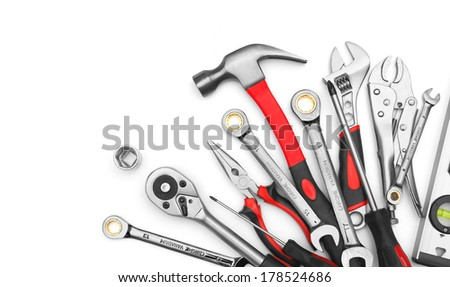 Many Tools on white background #178524686