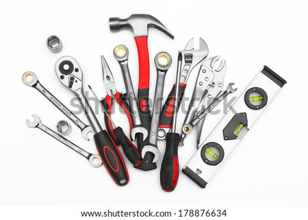 Many Tools on white background #178876634