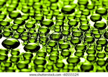 many water drops for background - stock photo