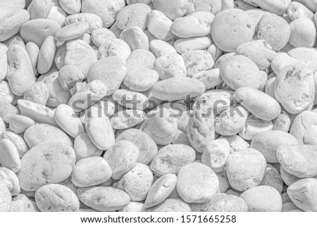 Many white stones Is a white background