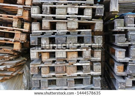 Warehouse Old Destroyed Wooden Pallets Free Images And Photos