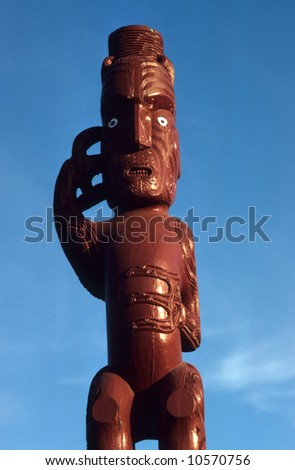 Maori carving, Roturua, New Zealand