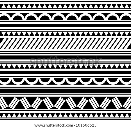 Maori Tatto Designs on Polynesian Tatto On Maori Polynesian Style Tattoo Bracelet Stock Photo