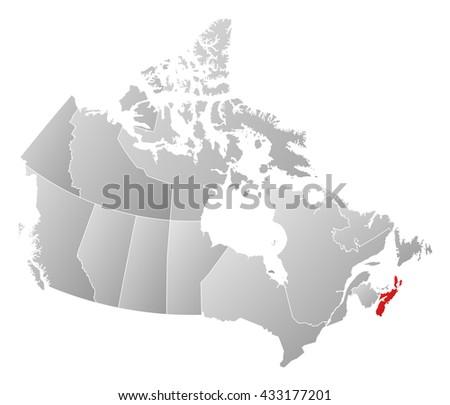 Map Of Canada Nova Scotia.Map Canada Nova Scotia Ez Canvas