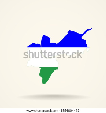 Map Canton of Basel-Stadt (Switzerland) in Ladin people flag colors Stok fotoğraf ©