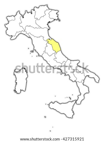 Map - Italy, Marche