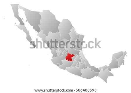 Mexico Map Guanajuato.Map Mexico Guanajuato Ez Canvas