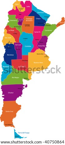 Map of administrative divisions of Argentina
