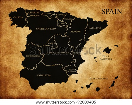 Map of administrative divisions of Spain