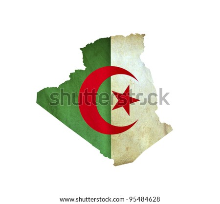 Map of Algeria isolated