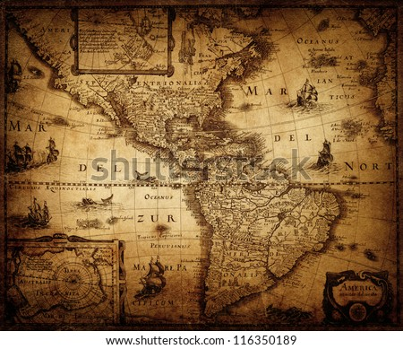 map of America 1632.