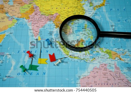 Map of Asia background #754440505