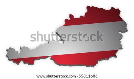 map of austria - stock photo