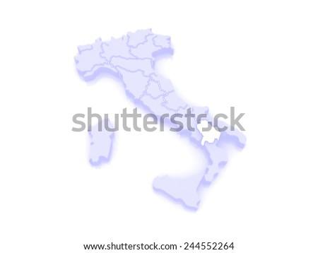 Map Of Basilicata Italy 3d Ez Canvas