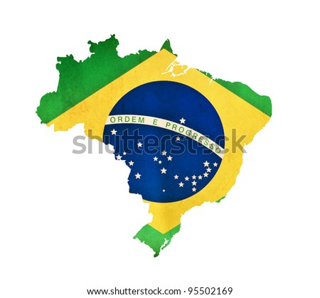 Map of Brazil isolated