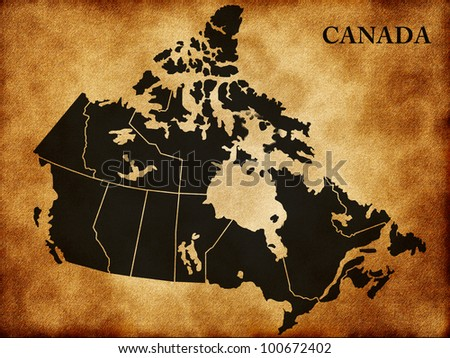 Map of Canada - stock photo