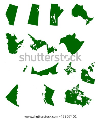 map of canada provinces and territories. stock photo : Map of Canada