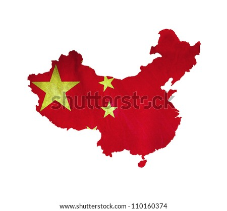 Map of China isolated