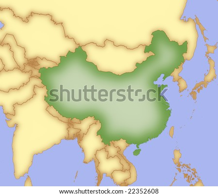 political map of russia and surrounding countries. Map of russia and surrounding