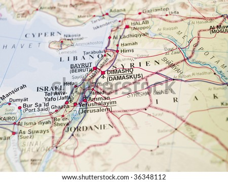 Map of Dimashq - stock photo