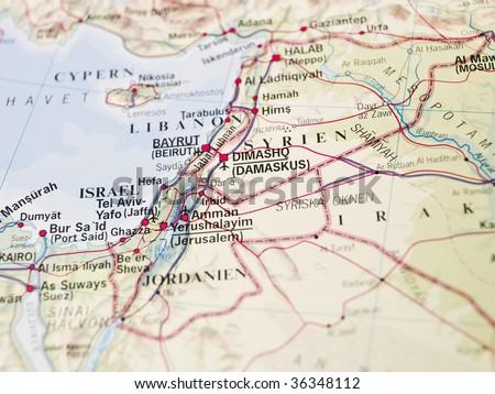 Map of Dimashq