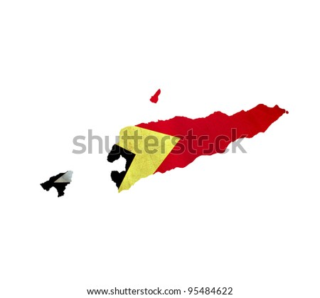 Map of East Timor isolated - stock photo