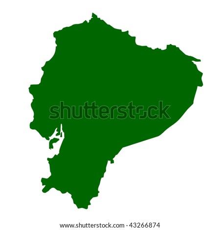 Map of Ecuador isolated on white background.