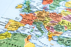 Map of Europe. Detail from the World Atlas.