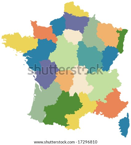 blank map of spain regions. lank map of france regions.