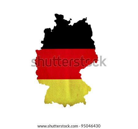 Map of Germany isolated