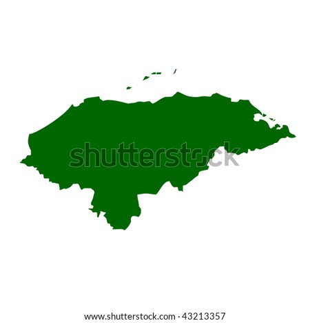 political map of honduras. 2011 map of honduras in