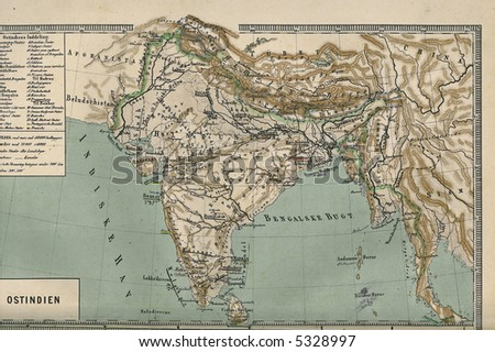 Map of India 1867