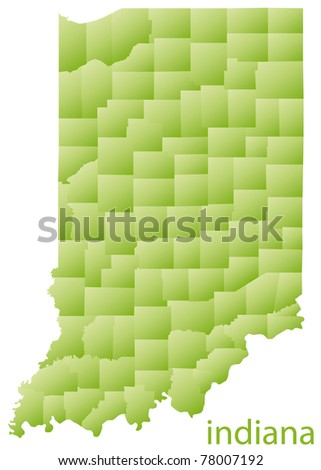 map of indiana state, usa